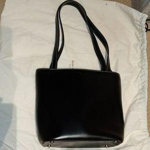 NWOT Kate Spade Black Leather Tote Bag'
